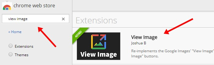 View Image Chrome Extension