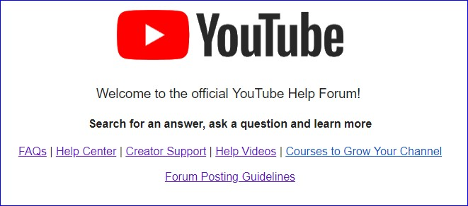 YouTube Help Forum