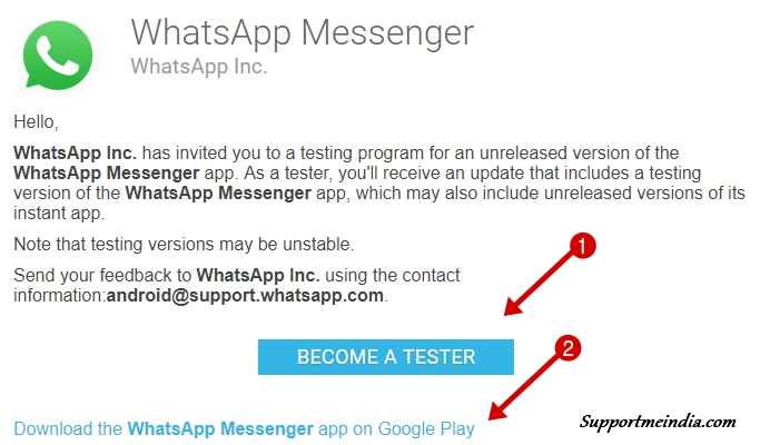 Download WhatsApp Beta Version