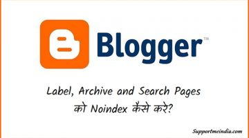 Noindex Blogger Label Archive and Search Pages