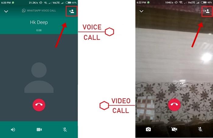 WhatsApp Group Video Call or Voice Call