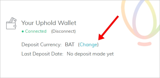 Uphold Account Connect to Brave