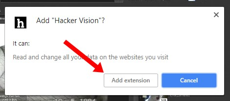 Click on Add extension button