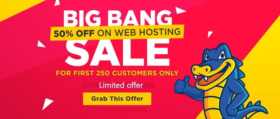 Hostgator big sale offer
