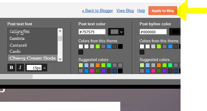 Save blogger theme customize settings