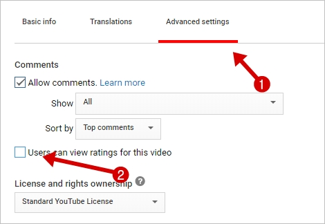YouTube Video Likes and Dislikes Hide
