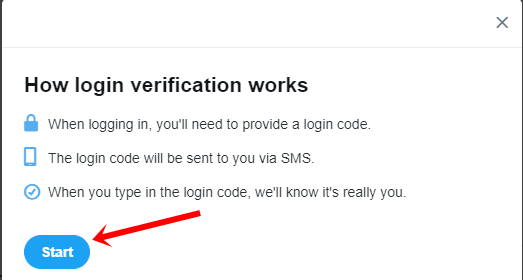 login verification start