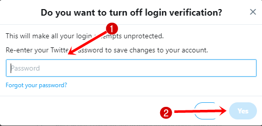 turn off login verification