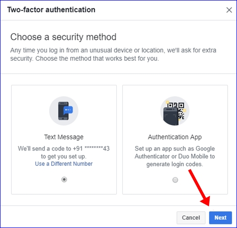 Facebook 2 step verification 5