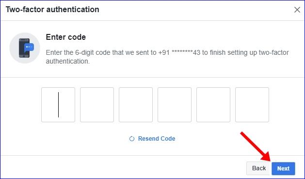 Facebook 2 step verification 6