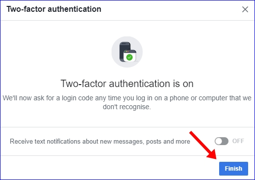 Facebook 2 step verification 7