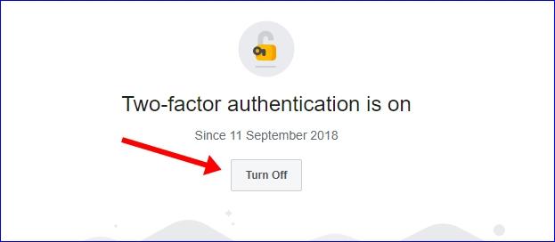 Facebook 2 step verification disable
