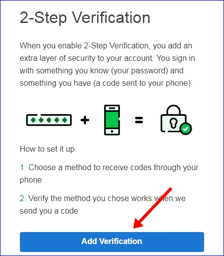 Godaddy 2 step verification