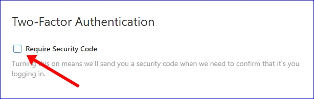 Instagram Two-Factor Authentication security code