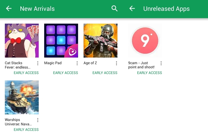 New Arrivals and Unreleased Apps