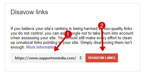 Disavow Bad Backlinks to Google