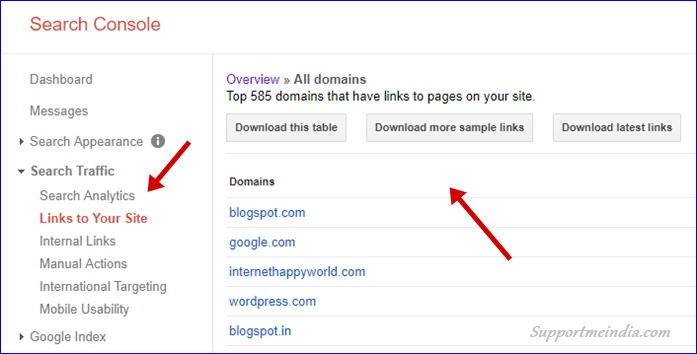 Download Backlinks from Google Search Console