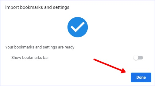 Import Bookmarks and settings to Chrome