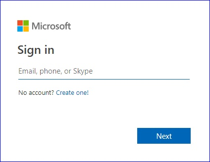 Login on Microsoft Account