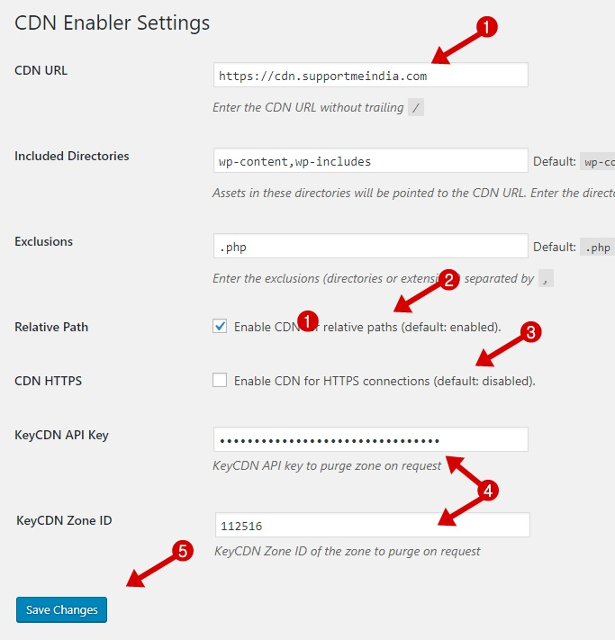 CDN Enabler Settings