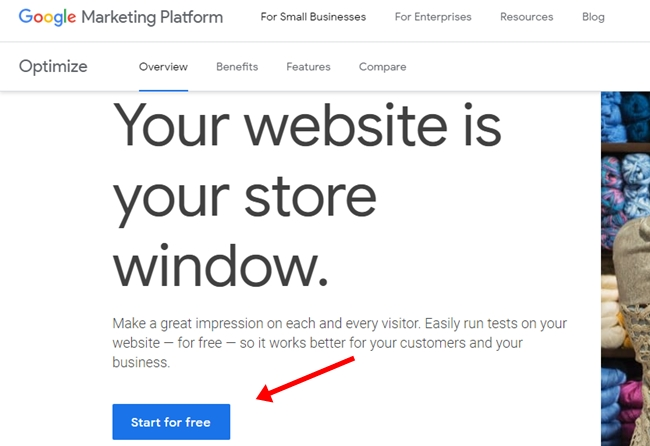Get start google optimize