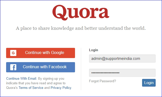 Join Quora Forum