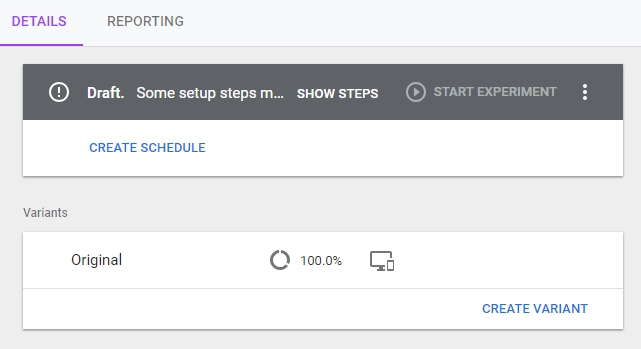 experience google optimize