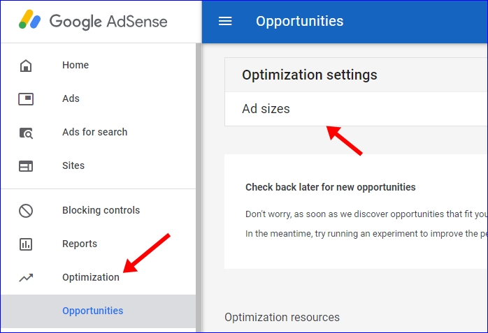 Google Adsense Optimization Settings