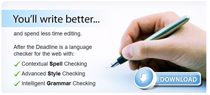 After The Deadline Grammar checker tools