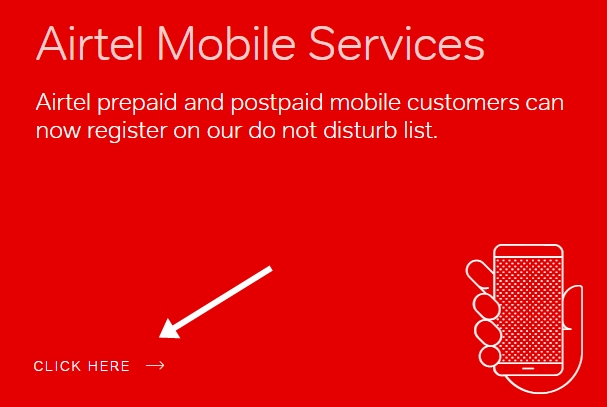 Airtel mobile service do not disturb