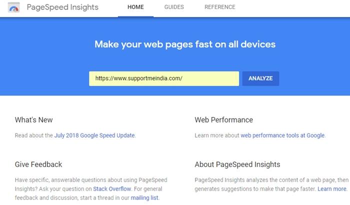 Google PageSpeed Insights - Website Speed Test Tools