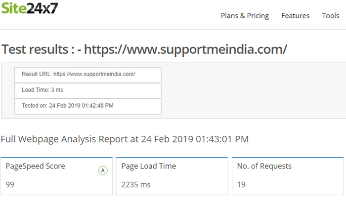 Site24x7 - Website Speed Test Tools