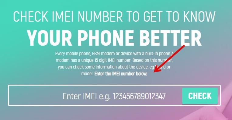 Check Phone details via IMEI