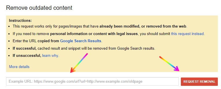 Remove Personal Details from Google Search