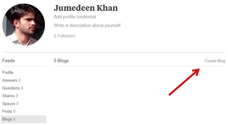 Quora परब्लॉग कैसे बनाएं की जानकारी