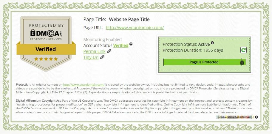 DMCA Certificate