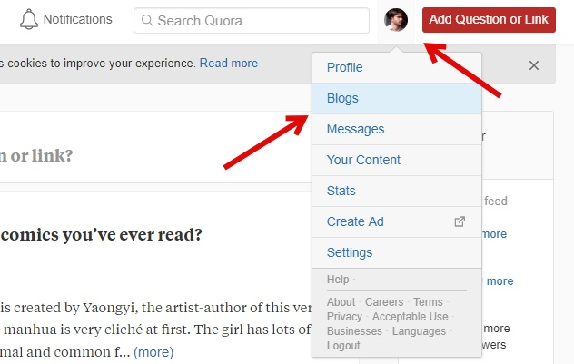 Start your Quora Blog