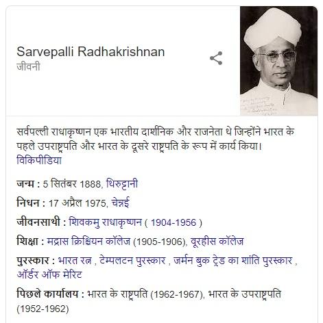 About Dr Sarvepalli Radhakrishnan