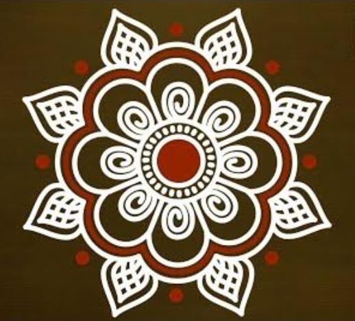 Simple Diwali Rangoli Design