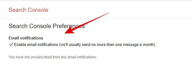 Enable email alert in google webmaster tool