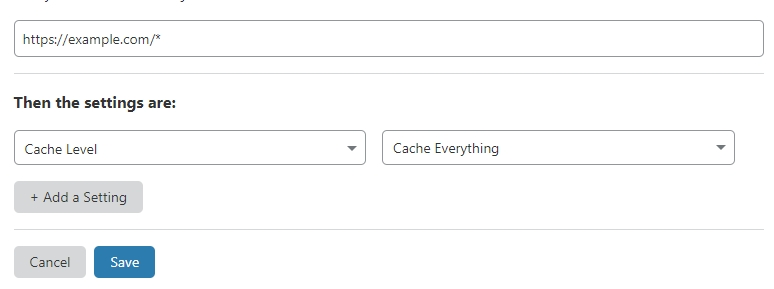 create cache everything page rule on cloudflare