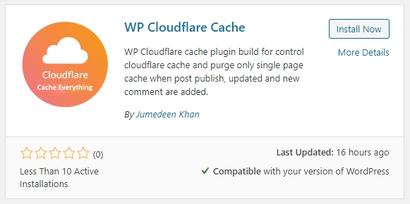 install wp cloudflare cache plugin