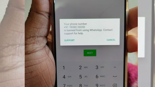 Banned whatsapp number