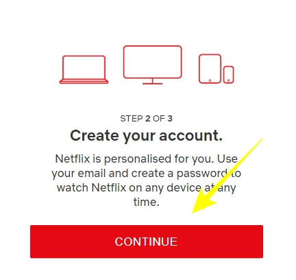 Create your account on Netflix