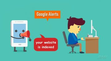 Google alert for new post indexed