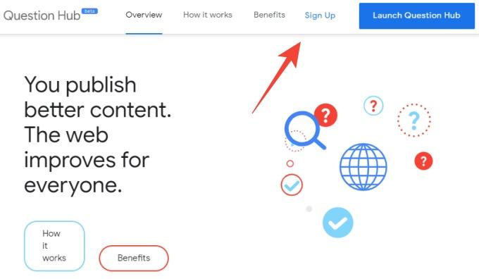 Google question hub sign up