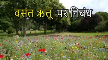 Spring Season Essay in Hindi