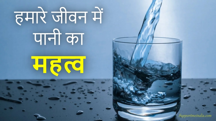 Water Importance in Hindi