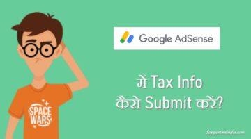 Submit tax info in Google AdSense