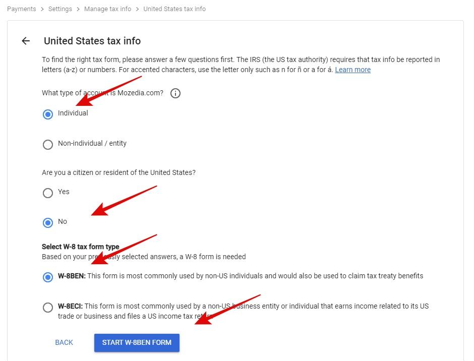 United tate tax info